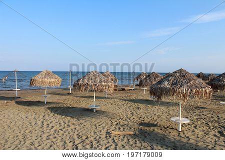 Beach In Larnaca, Cyprus