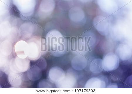 abstract background with bokeh defocused lights and stars. Twinkling lights festive holiday background with blurry special magic effect.