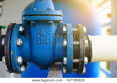 Large open water shut off Water supply pipe