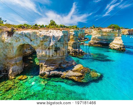 Torre Sant' Andrea, Salento coast, Puglia region, Italy