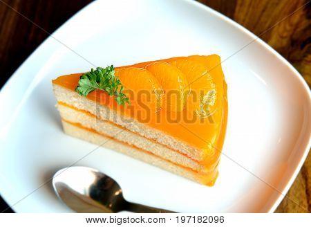Piece Of Home Made Orange Cake