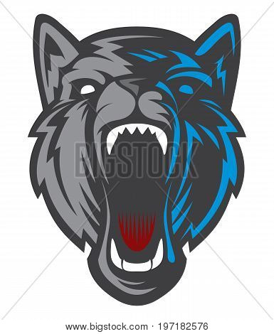 Wolf Logo / Dog Head logotype. Cartoon character vector. Great for sports logo & team mascots.