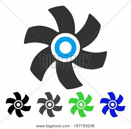 Rotor flat vector icon. Colored rotor gray, black, blue, green icon variants. Flat icon style for web design.