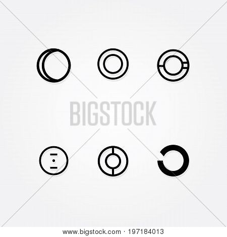 Various Letter O big logo typo pack for your company, six initial typo