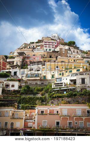 Positano on famous Amalfi coast in Italy