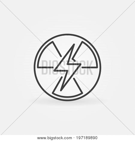 Nuclear power outline icon - vector energy sign or design element