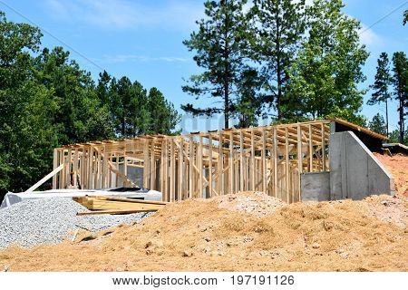New home construction site at Georgia, USA.