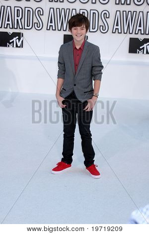 LOS ANGELES - SEP 12:  Greyson Chance arrives at the 2010 MTV Video Music Awards  at Nokia - LA Live on September 12, 2010 in Los Angeles, CA