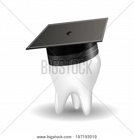 The concept of producing doctors dentists, vector art illustration.