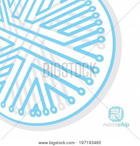 Vector circuit board digital technologies abstraction. Computer microprocessor scheme futuristic design. Microprocessor scheme abstract background