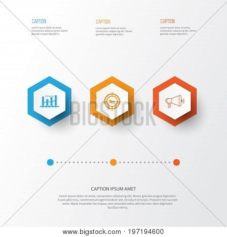 Marketing Icons Set. Collection Of Media Campaign, Keyword Optimisation, Keyword Marketing And Other Elements