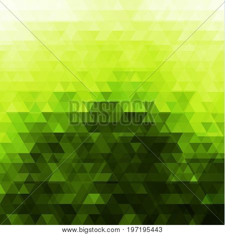 Abstract green mosaic background - raster version