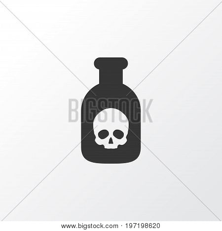Premium Quality Isolated Danger Element In Trendy Style.  Poison Icon Symbol.