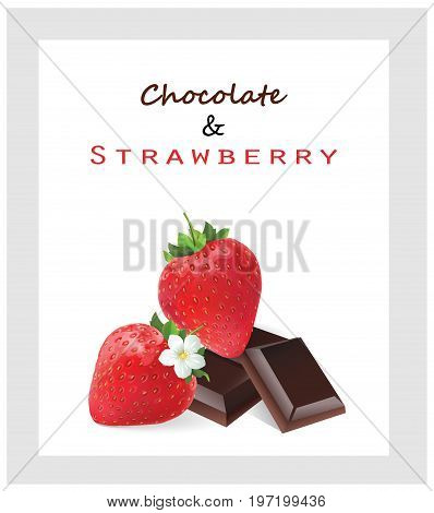 Chocolate and strawberry. Vector illustration design illustration of strawberry and chocolate