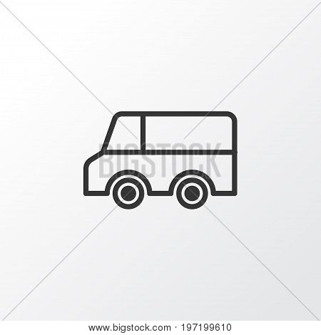 Premium Quality Isolated Lorry Element In Trendy Style.  Truck Icon Symbol.