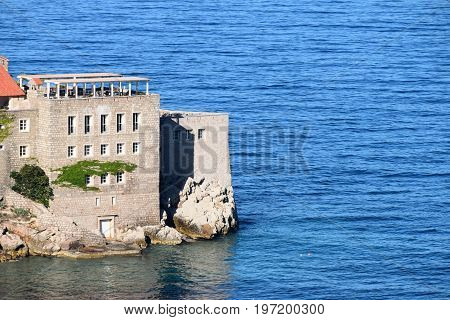 Fortress on the cape, at the island in the middle of the sea