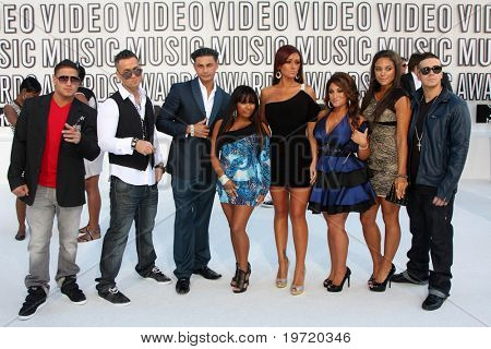 LOS ANGELES - SEP 12:  Jersey Shore Cast arrives at the 2010 VMA Awards at Nokai LA LIve on September 12, 2010 in Los Angeles, CA