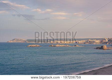 Mediterranean village of l'Escala in Costa Brava, province of Girona, Spain.
