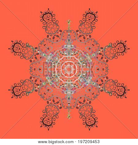 Christmas festive background. Vector illustration. Christmas snowflake of decoration on snow.