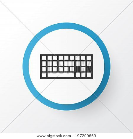 Premium Quality Isolated Keypad Element In Trendy Style.  Keyboard Icon Symbol.