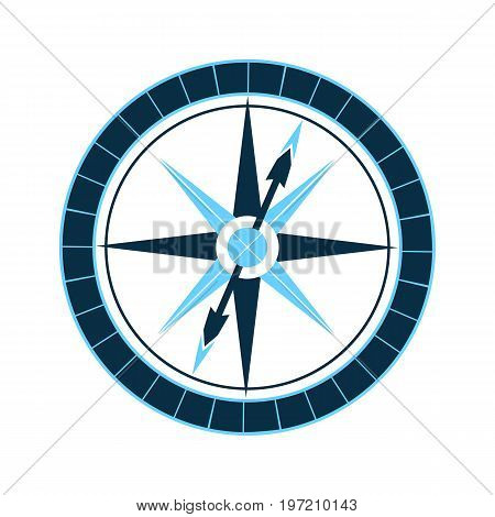 Mariner's compass. Wind rose. Nautical navigational Equipment
