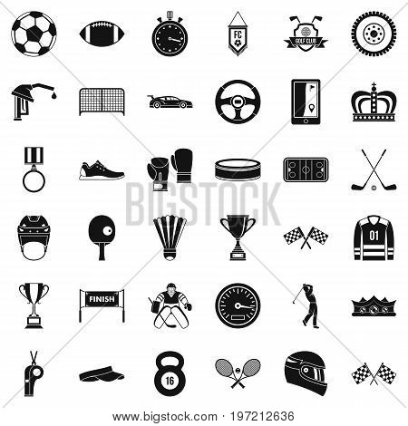 Champion icons set. Simple style of 36 champion vector icons for web isolated on white background