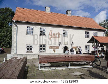 SAAREMAA, ESTONIA 7TH SPETEMBER 2012 - Historic building in the town of Kuressaare Saaremaa Estonia