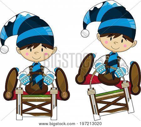 Elf On Sledge