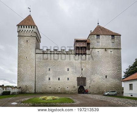 SAAREMAA, ESTONIA 7TH SPETEMBER 2012 - Kuressaare Castle on the island of Saaremaa Estonia