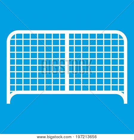 Gate icon white isolated on blue background vector illustration