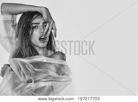 Woman In Sexy Raincoat