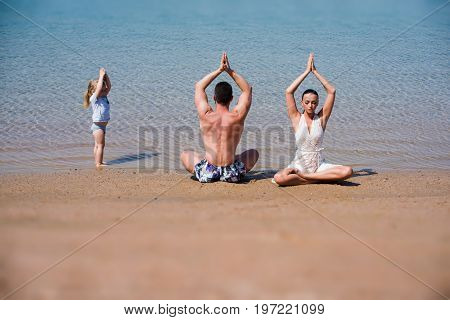 yoga and meditation love and family summer vacation spirit and body recreation and mind family