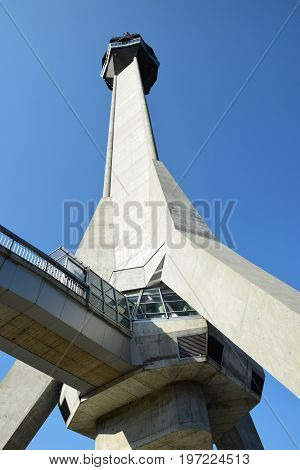 Tourist attraction, viewpoint on the high tower