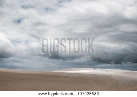 Desert under stormy sky - natural background