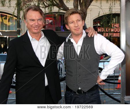 LOS ANGELES - SEP 19:  Sam Neill, David Wenham arrive at the Legend of the Guardians: The Owls of Ga'Hoole Premiere at Grauman's Chinese Theater on September 19, 2010 in Los Angeles, CA