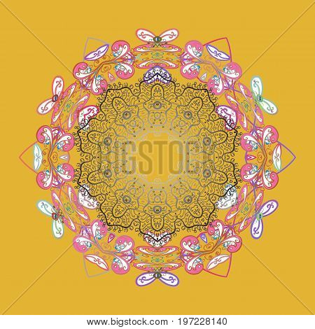 Isolated of vector snowflakes. Snowflakes collection. Vector illustration. Fine winter ornament.