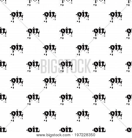 Oil word isolated on white background. Black oil word vector illustration