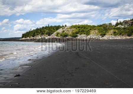 Black Beach, Lorneville, New Brunswick, In Atlantic Canada