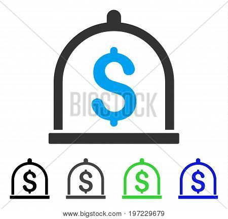 Dollar Deposit flat vector pictograph. Colored dollar deposit gray, black, blue, green icon versions. Flat icon style for application design.