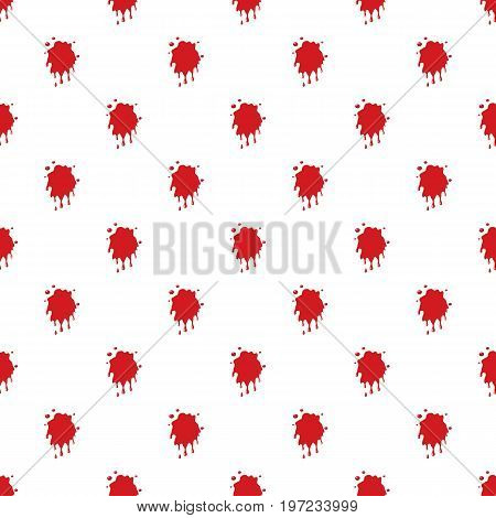 Blood stain pattern seamless repeat in cartoon style vector illustration