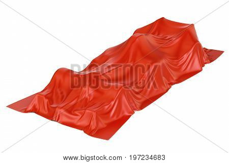Presentation of racing car with open wheels concept 3D rendering isolated on white background