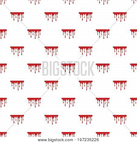 Flowing blood pattern seamless repeat in cartoon style vector illustration