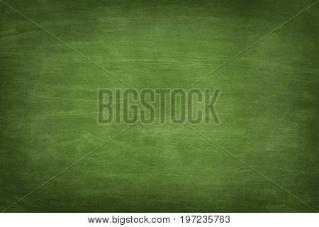 Full frame shot of blank green chalkboard
