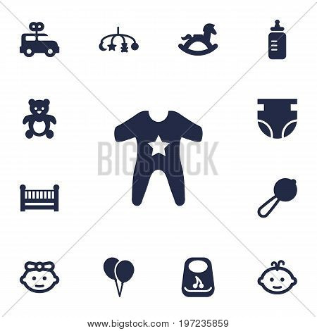 Collection Of Breastplate, Bus, Hangings And Other Elements.  Set Of 13 Child Icons Set.