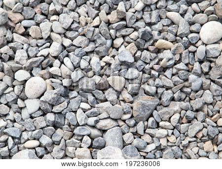 A background of stone rubble . A photo