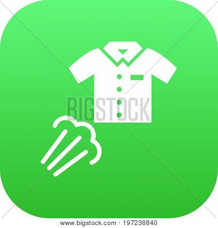 Isolated Clothes Steaming Icon Symbol On Clean Background