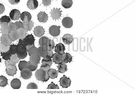 Grunge Black Splash Background. Watercolor Blots Background.