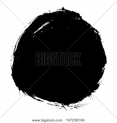 Grunge splatter background. Ink stain design. Spray splashes backdrop. Liquid stains isolated. Paint brush strokes and drops texture. Abstract vector illustration.