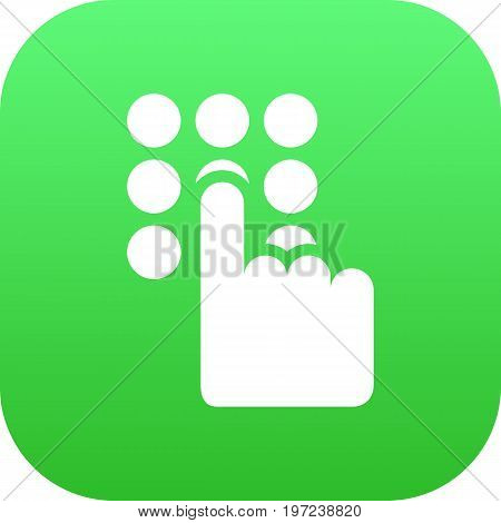 Vector Keypad  Element In Trendy Style.  Isolated Password Icon Symbol On Clean Background.