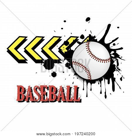 Background Abstract Baseball Ball From Blots